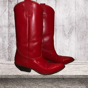 Vintage Arizona jean company red cowgirl boots!